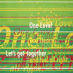 schilderij painting One Love!
