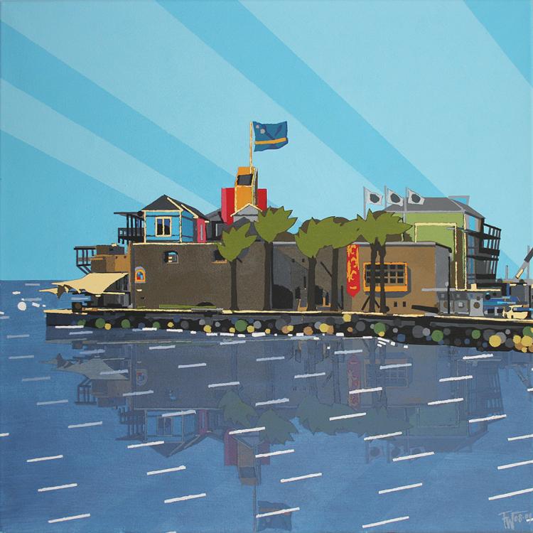 schilderij painting Willemstad Curaçao