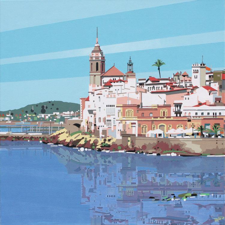 schilderij painting Sitges