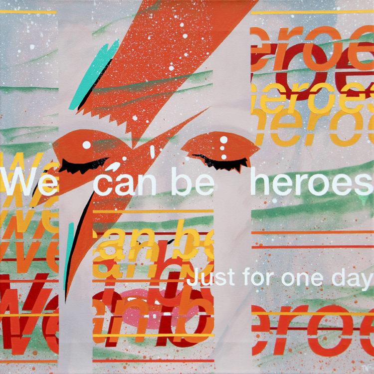 schilderij painting We can be heroes David Bowie
