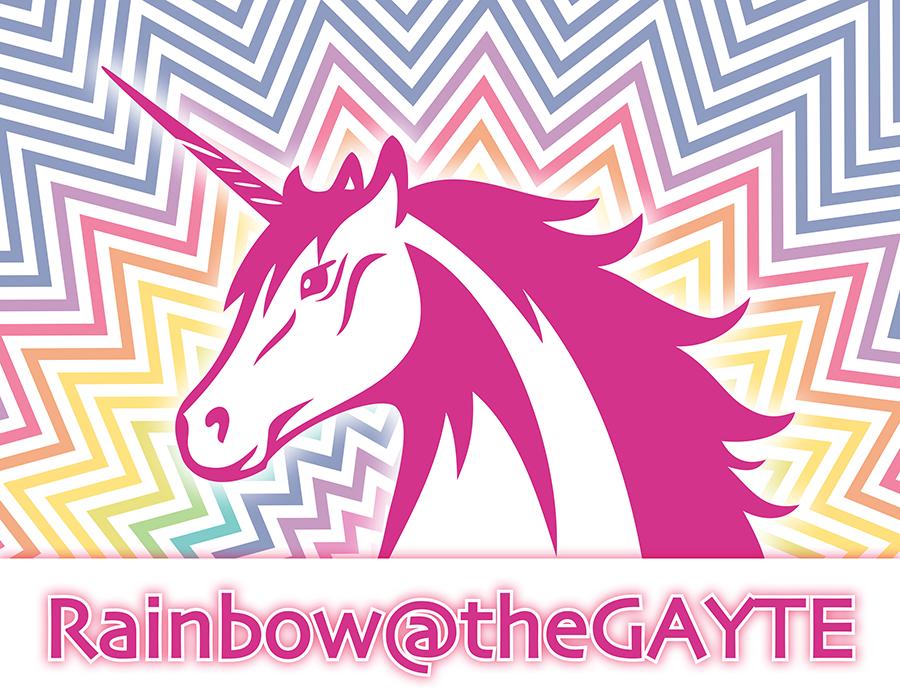 Logo jongerenfeest Rainbow@theGAYTE