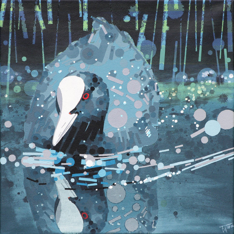 schilderij painting Meerkoet