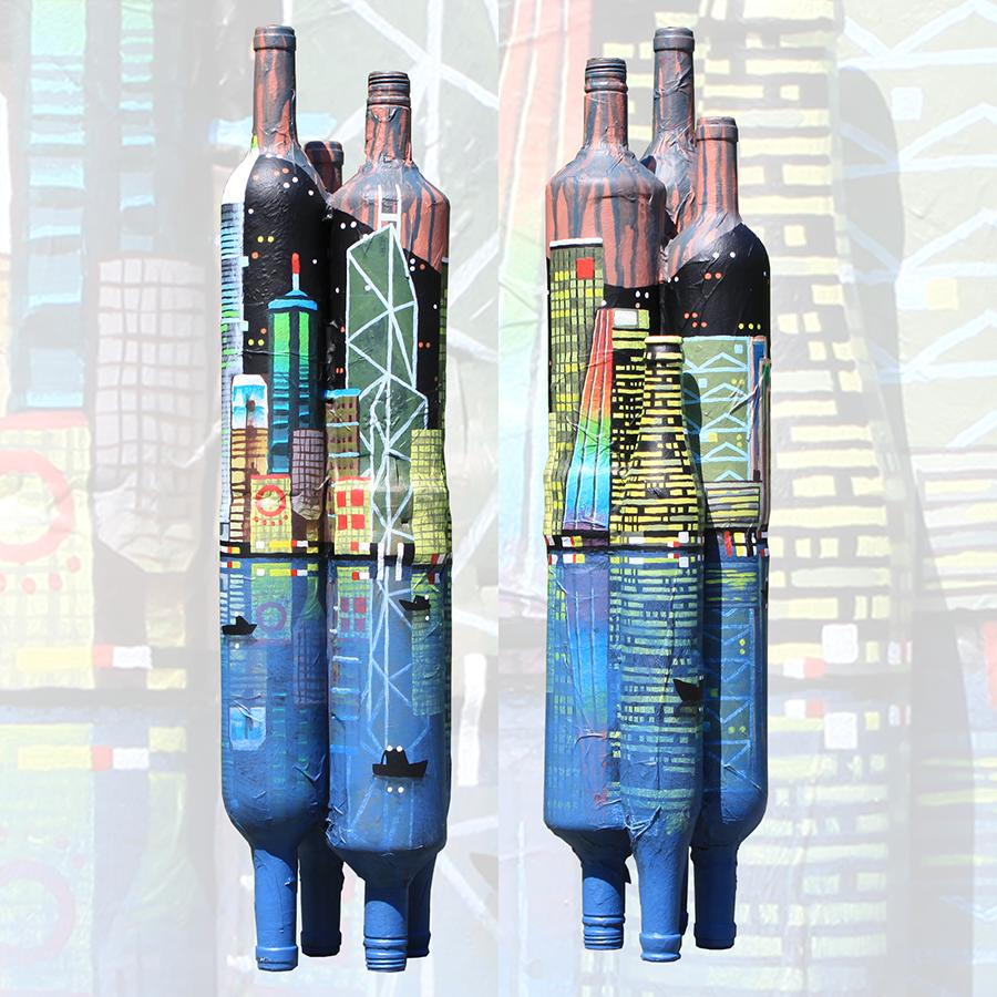 bottle town Hong Kong