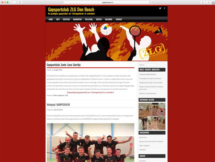 Website sportvereniging Zoete Lieve Gerritje ZLG