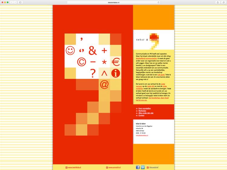 Website Tekst & Teken